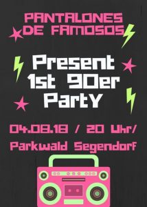 90er Party im Parkwald @ Parkwald Segendorf