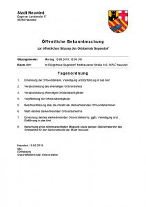 Ortsbeiratssitzung @ Alte Schule Segendorf